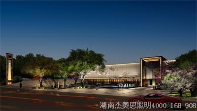 湘江北城售楼部亮化设计完工