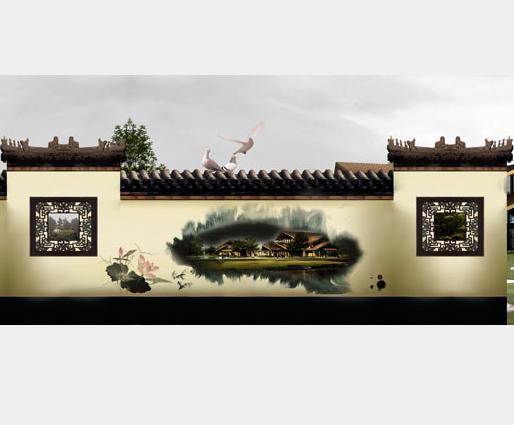 中式园林围挡