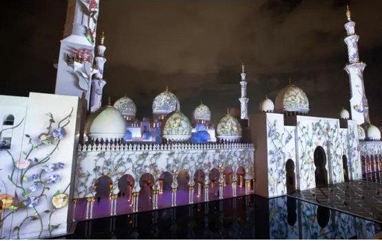 清真寺的3D灯光秀